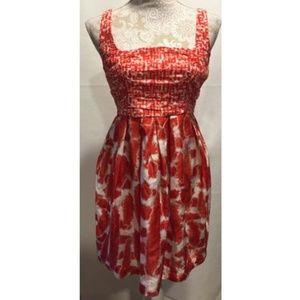 BB DAKOTA Azalea Pleated Sleeveless Dress Sz 8
